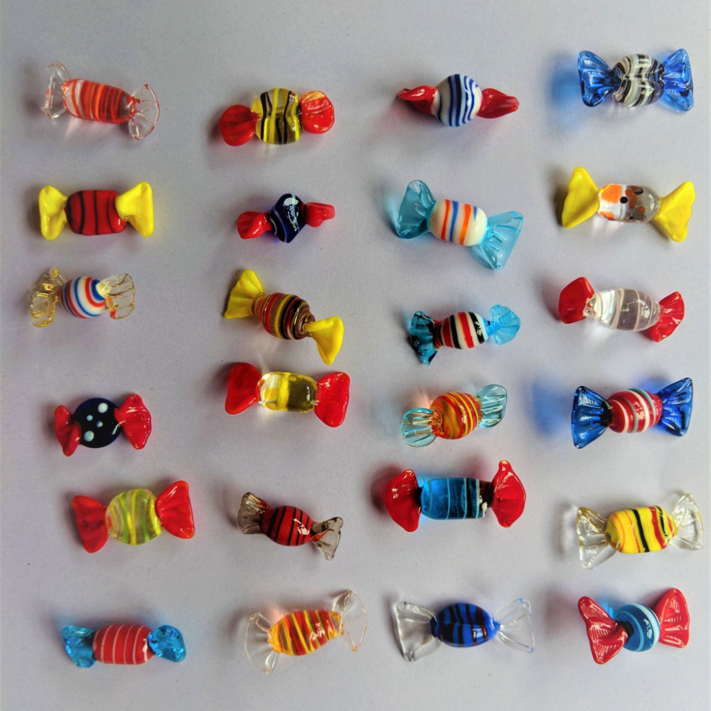 Mini Glass Sweets - 24 Assorted